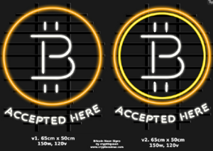 Bitcoin Neon Sign Accepted Here